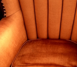 Luxe Orange Wingback